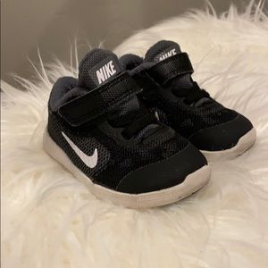 Nike Velcro shoes, black size 4
